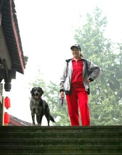 Adult Trained Dog Now Living in China